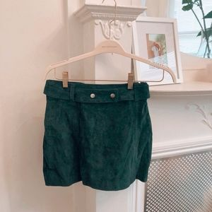 Perfect green vegan suede skirt by Zara